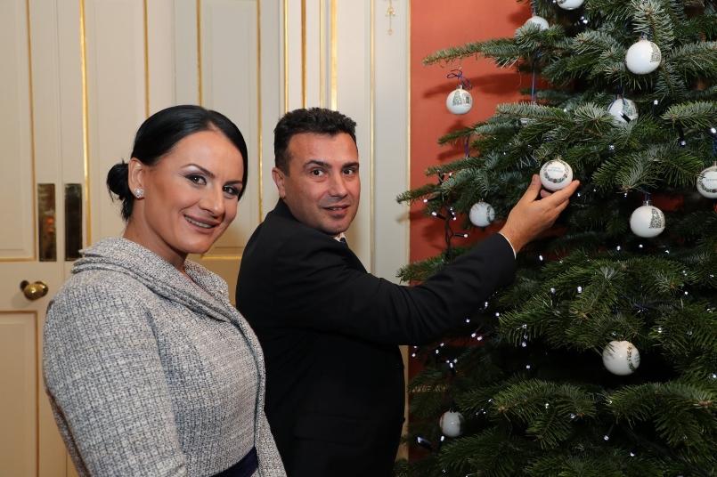 Премиерот Заев на прием во Даунинг Стрит 10