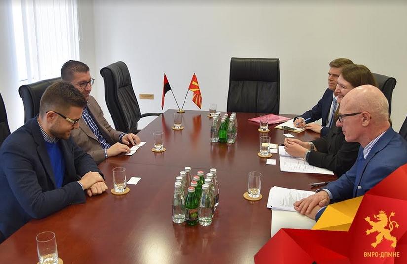 Мицкоски- Спраул: Новата Влада која што ќе ја формира ВМРО-ДПМНЕ има стратегија како да ја стави Македонија на брзата трака за членство во Унијата