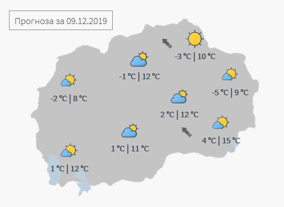 Доаѓаат дожд и снег: Еве какво време не` очекува до четврток (ФОТО)