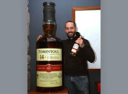 Најголемото шише со виски продадено на аукција за 18.000 евра