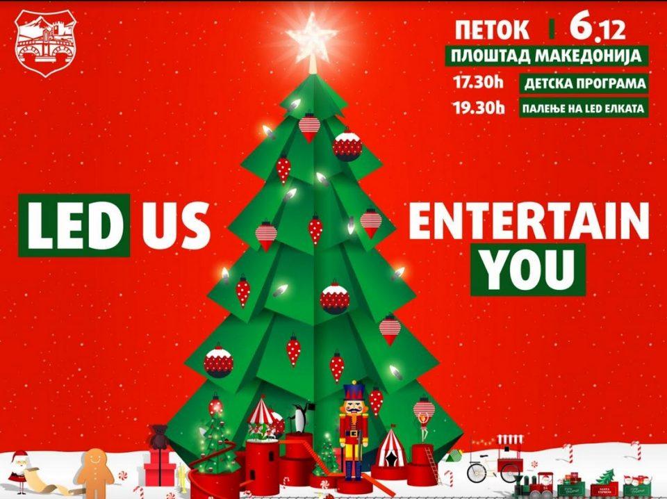 """Утре започнува новогодишната магија во Скопје: Елката ќе светне, стартува """"Винтерленд"""""""