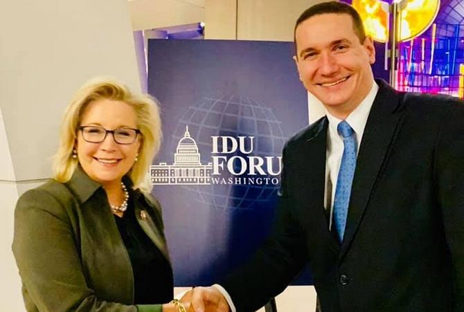 Ѓорчев оствари средба со конгресменката Лиз Чејни