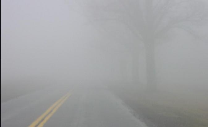Поради магла намалена видливост до 50 метри на повеќе патни правци