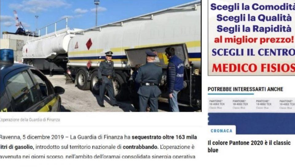 Во Равена запленети 163.000 литри нафта шверцувана од Албанија