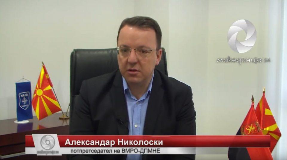 Николоски во интервју за КУРИР: Изрекетирани се преку 20 милиони евра, по промената на власта ќе се спроведе сериозна истрага