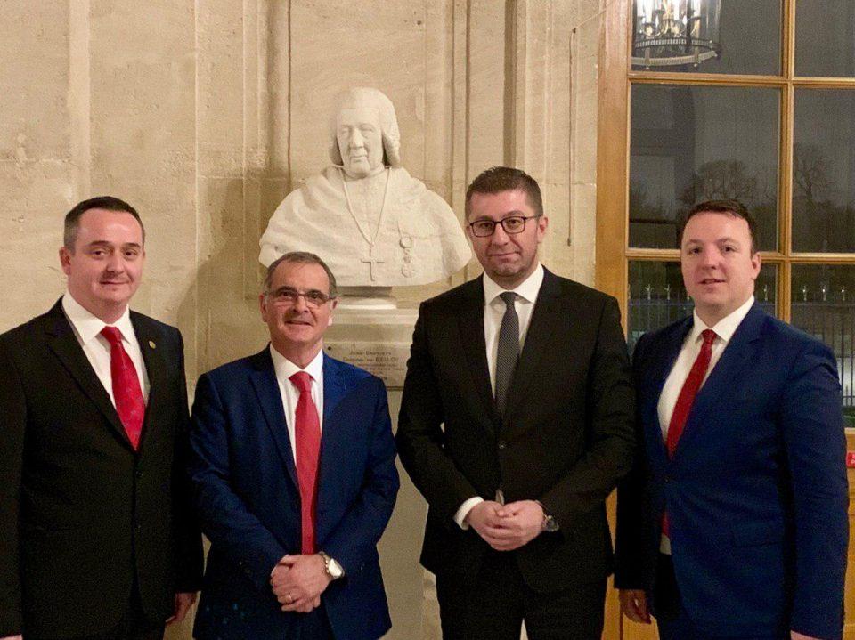 Мицкоски во Париз оствари средба со членовите на Францускиот Сенат Марта Де Сидрак и Арно Базин