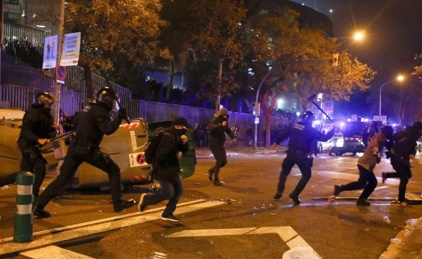 "Протести и судири за време на ""Ел класико"""