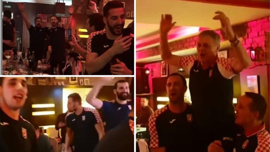 Хрватите славеле во македонски ресторан