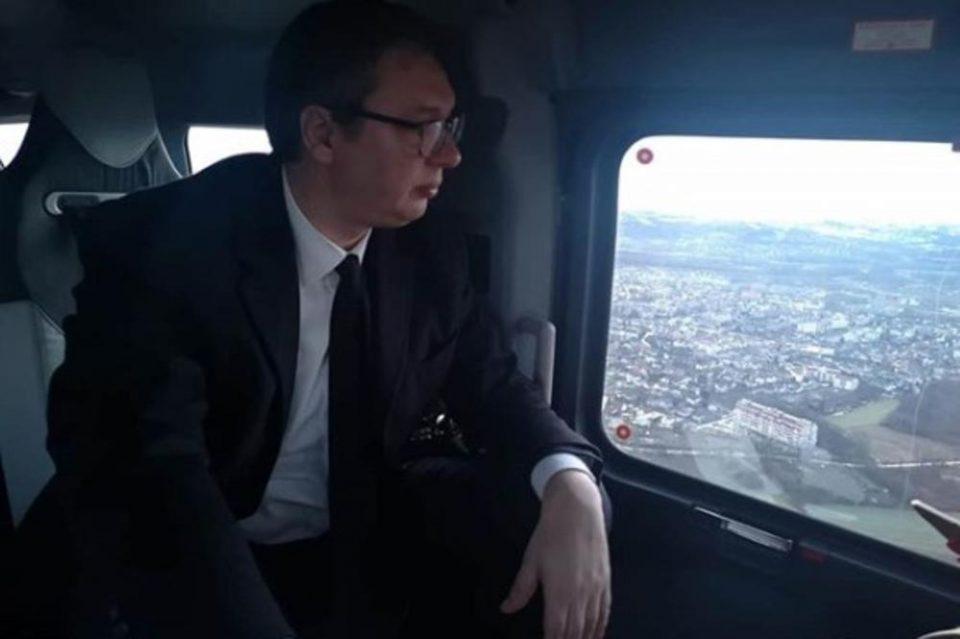 Проблеми со хеликоптерот на Александар Вучиќ, нагли движења…