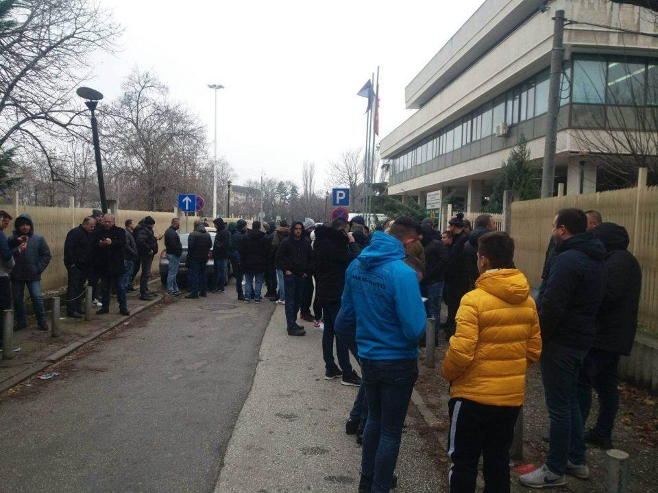 Протест на Здружението на увозници на возила