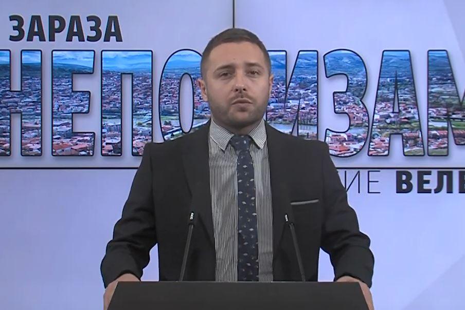 Арсовски: Во Велес од ден на ден наместо да се вработуваат квалитетни кадри се вработуваат цели фамилии на функционери на СДСМ
