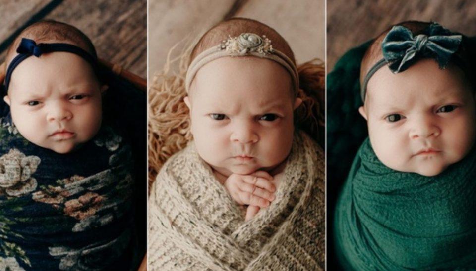 Бебето Луна го освои светот: Нејзината новогодишна фотосесија е посебна, вакво лице немате видено  (ФОТО)
