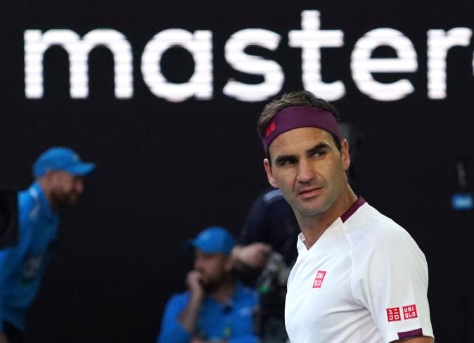 Федерер казнет поради пцуење на Австралија опен