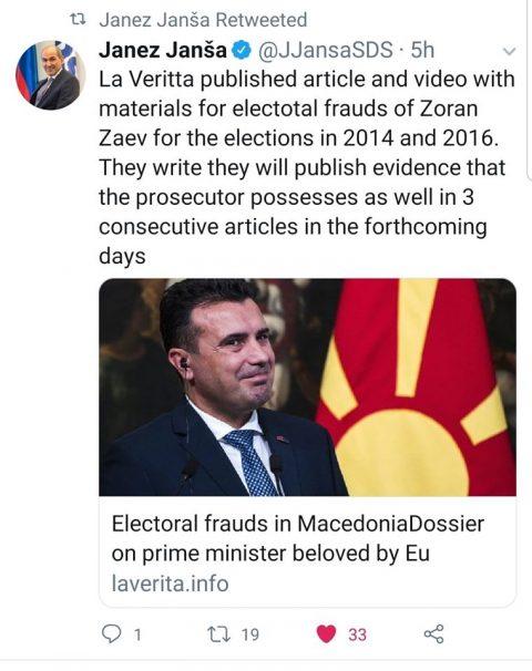 Јанез Jанша се мајтапи со Заев: Досието со изборни измами на премиерот сакан од ЕУ