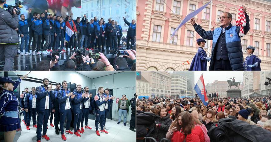 ВИДЕО: Илјадници луѓе ги дочекаа сребрените ракометари на Хрватска во Загреб