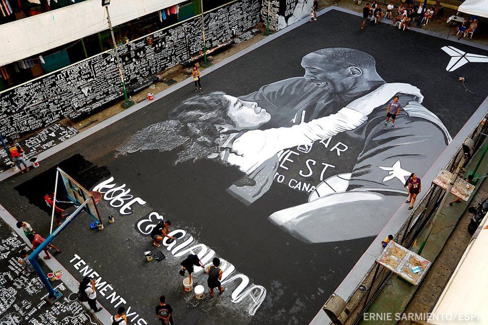 Да се наежиш: Мурал од Коби и Џана на баскет-терен во Манила (ФОТО)