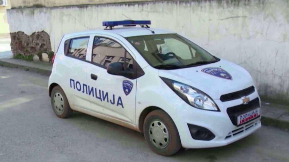 Опожарено полициско возило во Куманово
