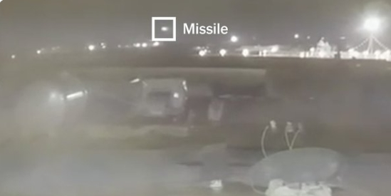 ВИДЕО: Објавени нови снимки, Иран со две ракети го погодил украинскиот авион