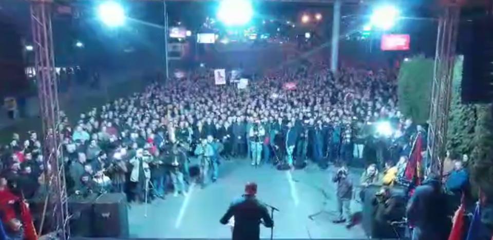 Видео од дрон: Над 20.000 луѓе излегоа на маршот на ВМРО-ДПМНЕ