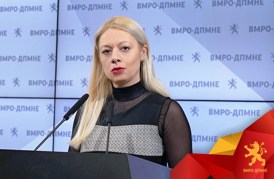 Андоновска: Филипче со своите изјави создава само паника меѓу граѓаните