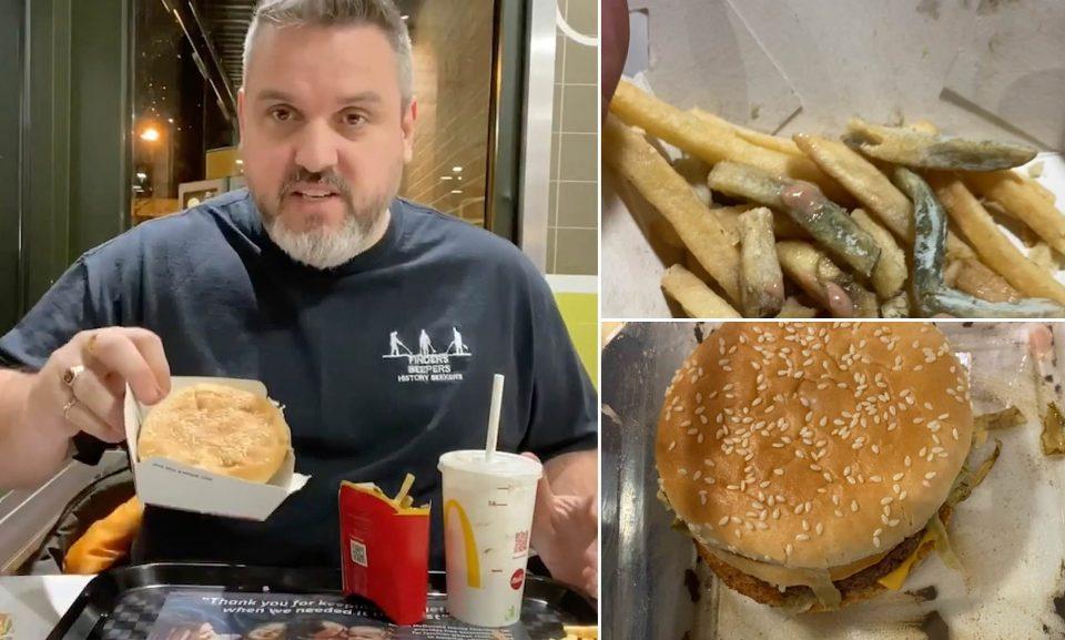 ВИДЕО: Закопал хамбургер и помфит, ги изел по 14 месеци