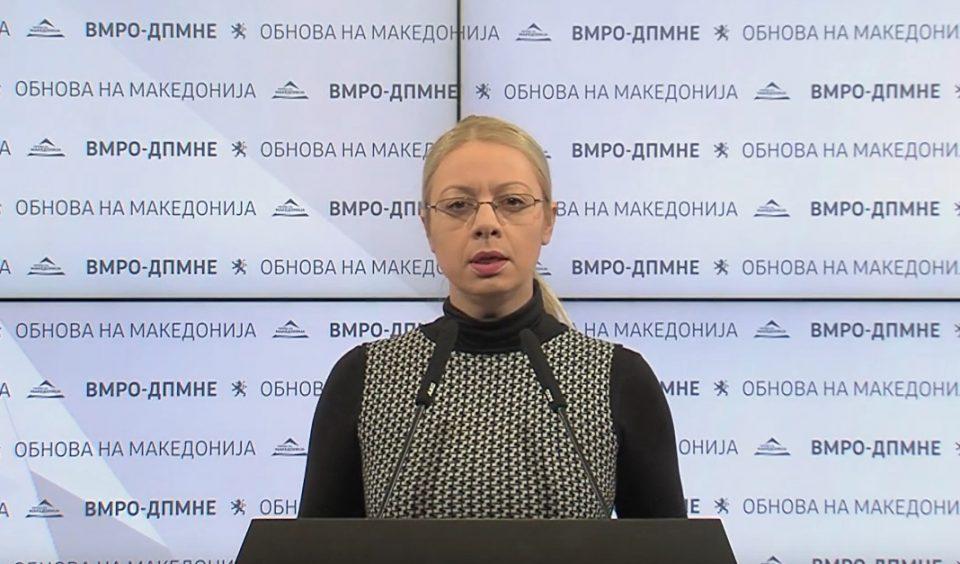 Андоновска: Шилегов и Филипче мора да понесат одговорност за хаосот и хоророт во Дрисла