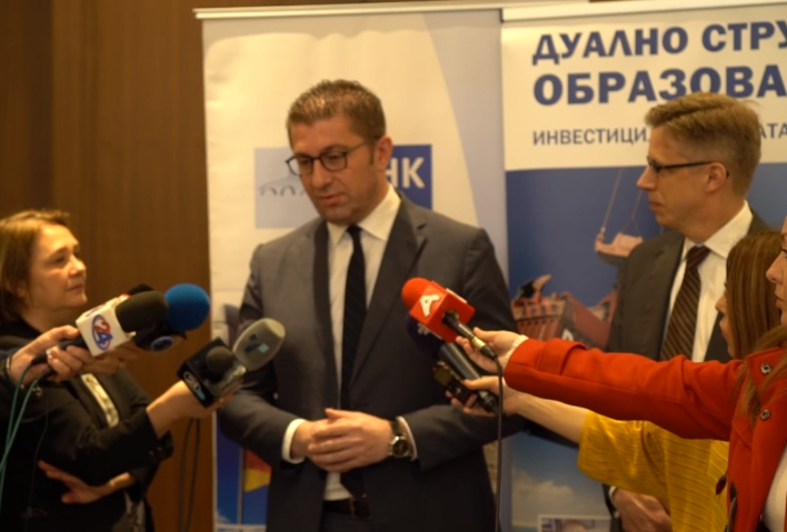 Мицкоски на средба со Македонско Германската Комора – за да имаме успешна економија,  мора реформирано, а не  Луј Витон правосудство
