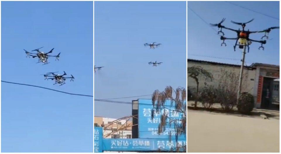 Кина користи дронови за предупредување на граѓаните од коронавирусот