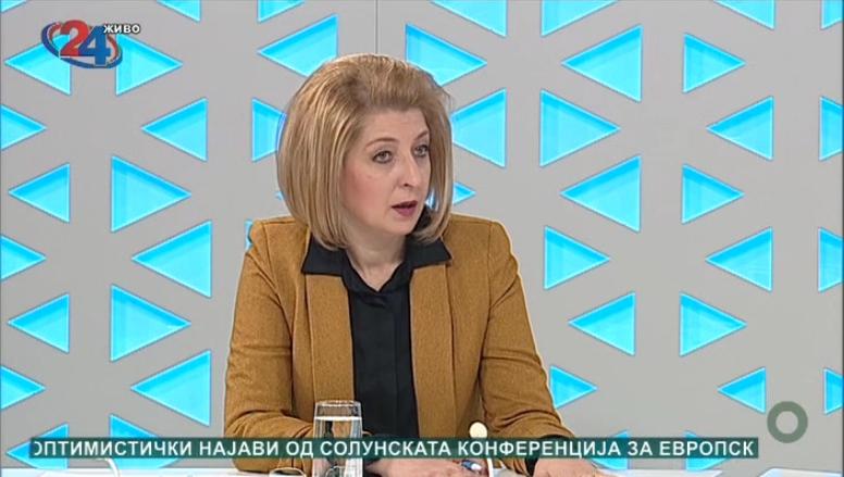 Ласовска: При упис на децата во прво одделени има прашање дали детето е родено во Република Северна Македонија, тоа е лажирање, првоодделениците се родени во Република Македонија