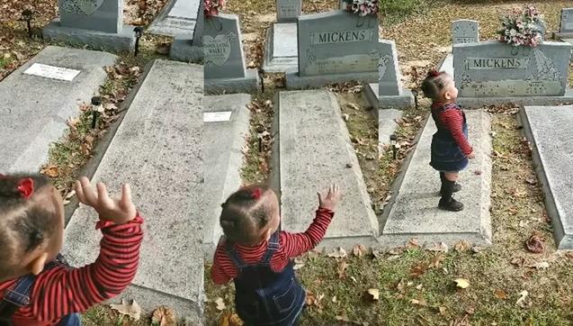 ВИДЕО: Мајка со ќеркичката биле на гробишта, а потоа девојчето почна да разговара со дух – го прегрна па го бакна