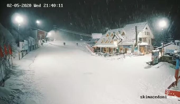 ВИДЕО: Маврово утринава со најмногу снег, а еве како вееше синоќа