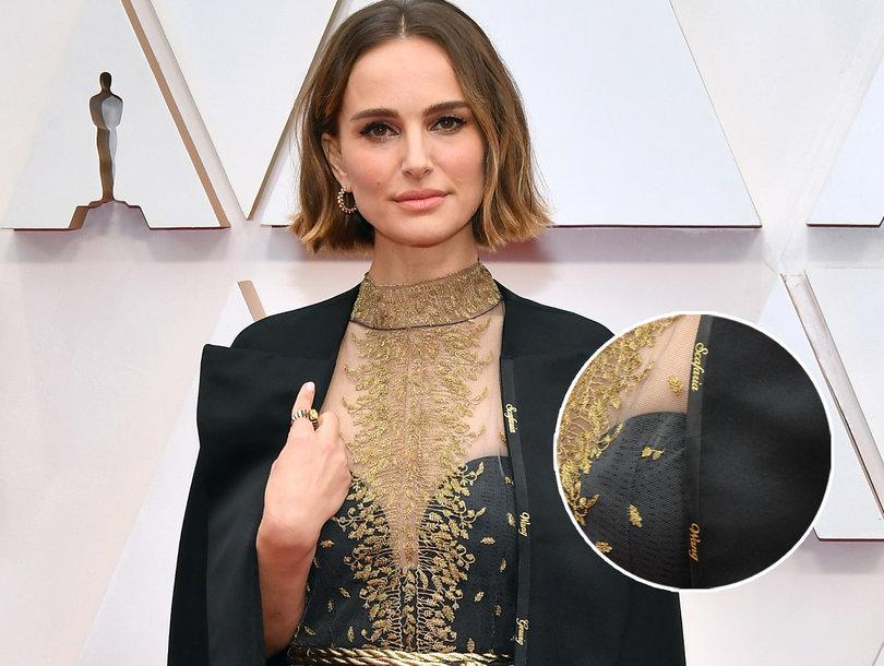 ФОТО: Натали Портман не се откажува, ова е скриената порака на фустанот со кој се појави на Оскарите