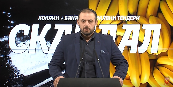 Ѓорѓиевски: Имаме компанија шверцер на кокаин која добивала државни тендери и заменик министер за МВР кој брифира информации со кои ја загрозува акцијата