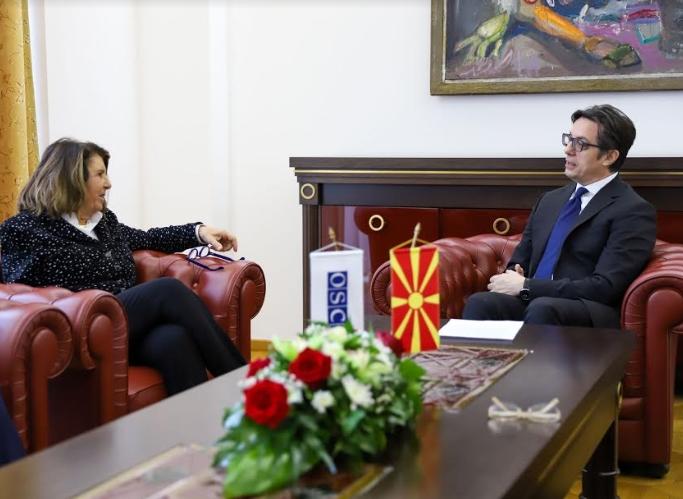 Пендаровски на средба со Паола Северино, Специјален претставник на Претседавачот на ОБСЕ за борба против корупцијата