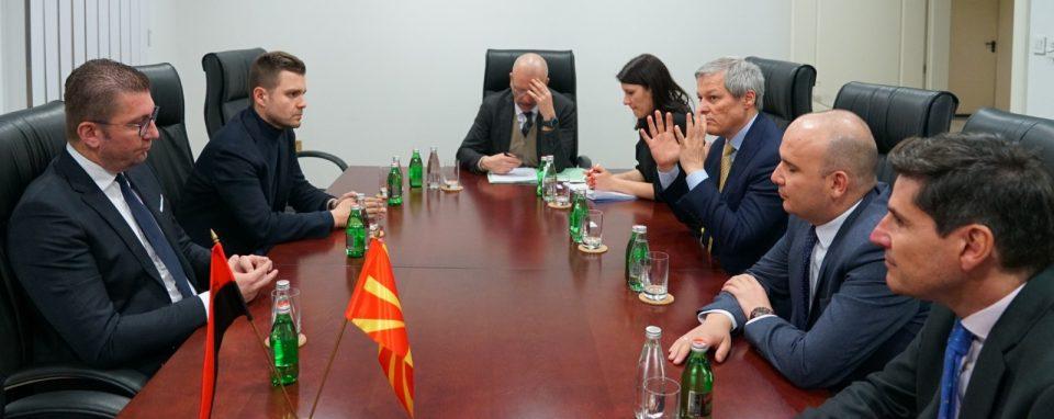 Мицкоски оствари средба со европратениците Дачијан Чолош и Илхан Ќучук: Најсериозен проблем со кој се соочува нашата држава е високата корупција