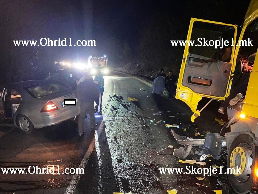 Детали за сообраќајката на патот Охрид-Кичево, повредено едно лице