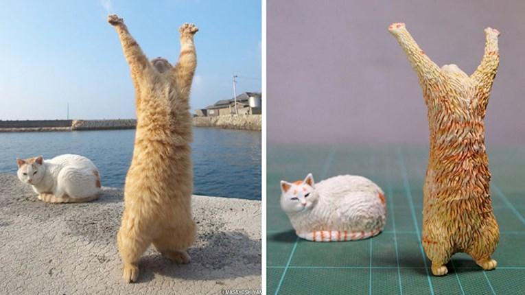 ФОТО: Уметник изработува скулптури на животни фатени во смешни пози