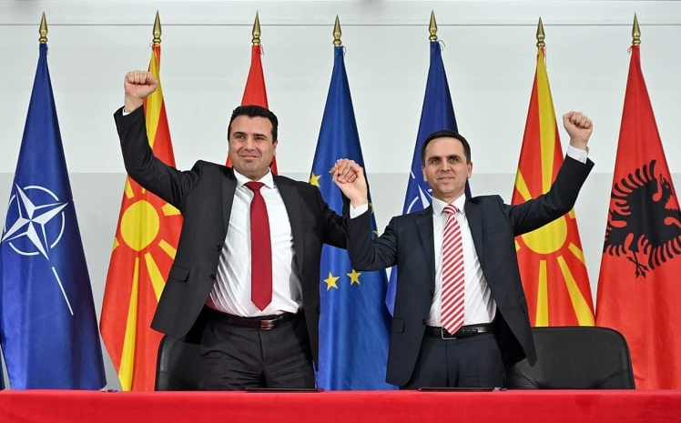 Пред албанско знаме, Заев потпиша предизборен договор со Касами