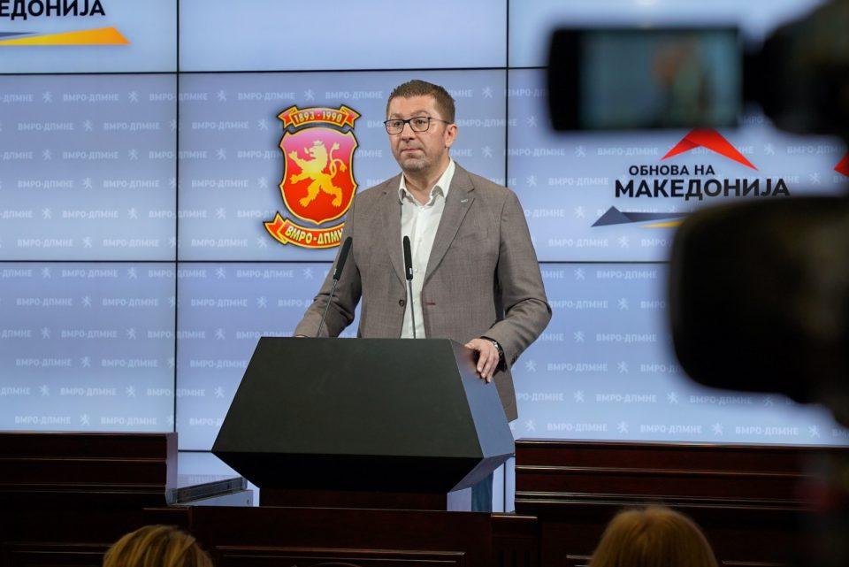 Мицкоски: Даваме шанса на нова генерација, над 95% се нови кадри и кандидати за пратеници, која ќе ја донесе победата