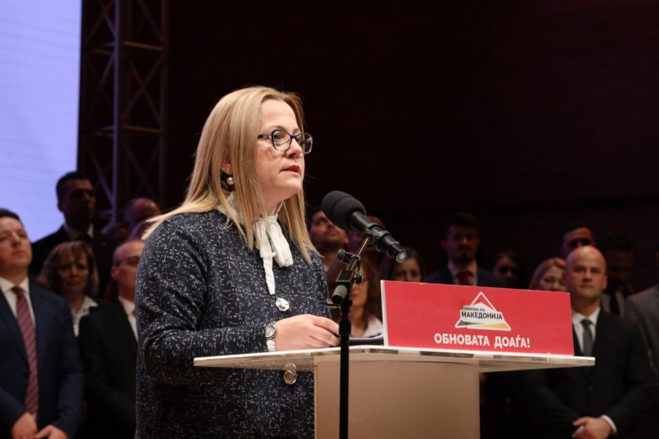 Стојаноска до СДСМ: Патот коj вие го одбравте не одведе во рекет и криминал, време е за обнова на Македонија