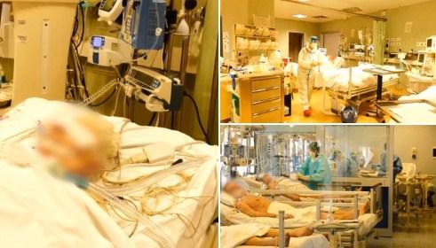 Се слуша само звукот на респираторите – Нова страотна видео снимка од болница во Италија каде што се лекуваат заболени од коронавирус (ВИДЕО)
