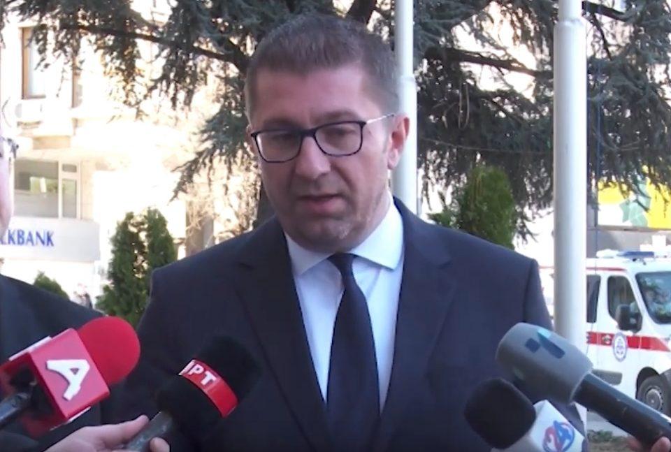 Мицкоски: Додека постои забраната, ВМРО-ДПМНЕ нема да организира митинзи