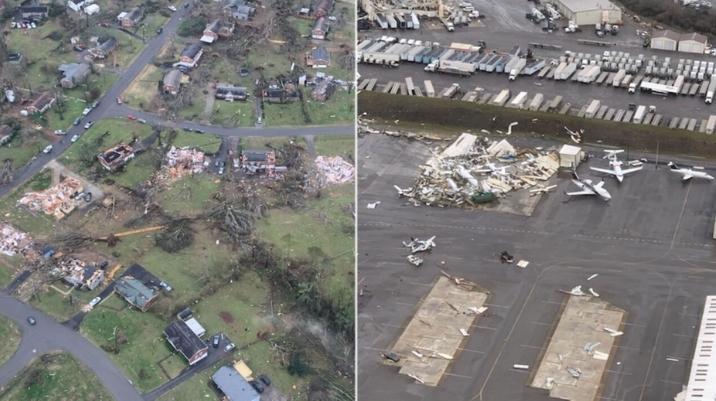 ФОТО: Најмалку 25 загинати во торнадо во Нешвил