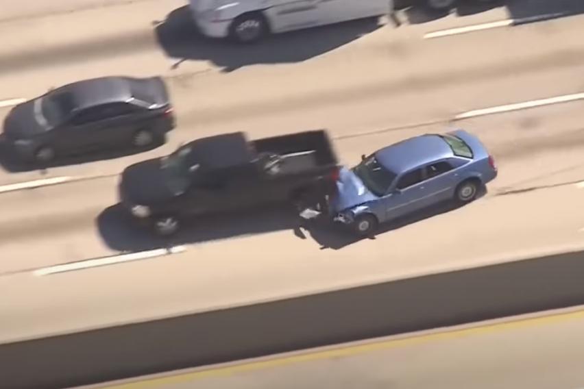 Кога лош возач бега од полицијата…