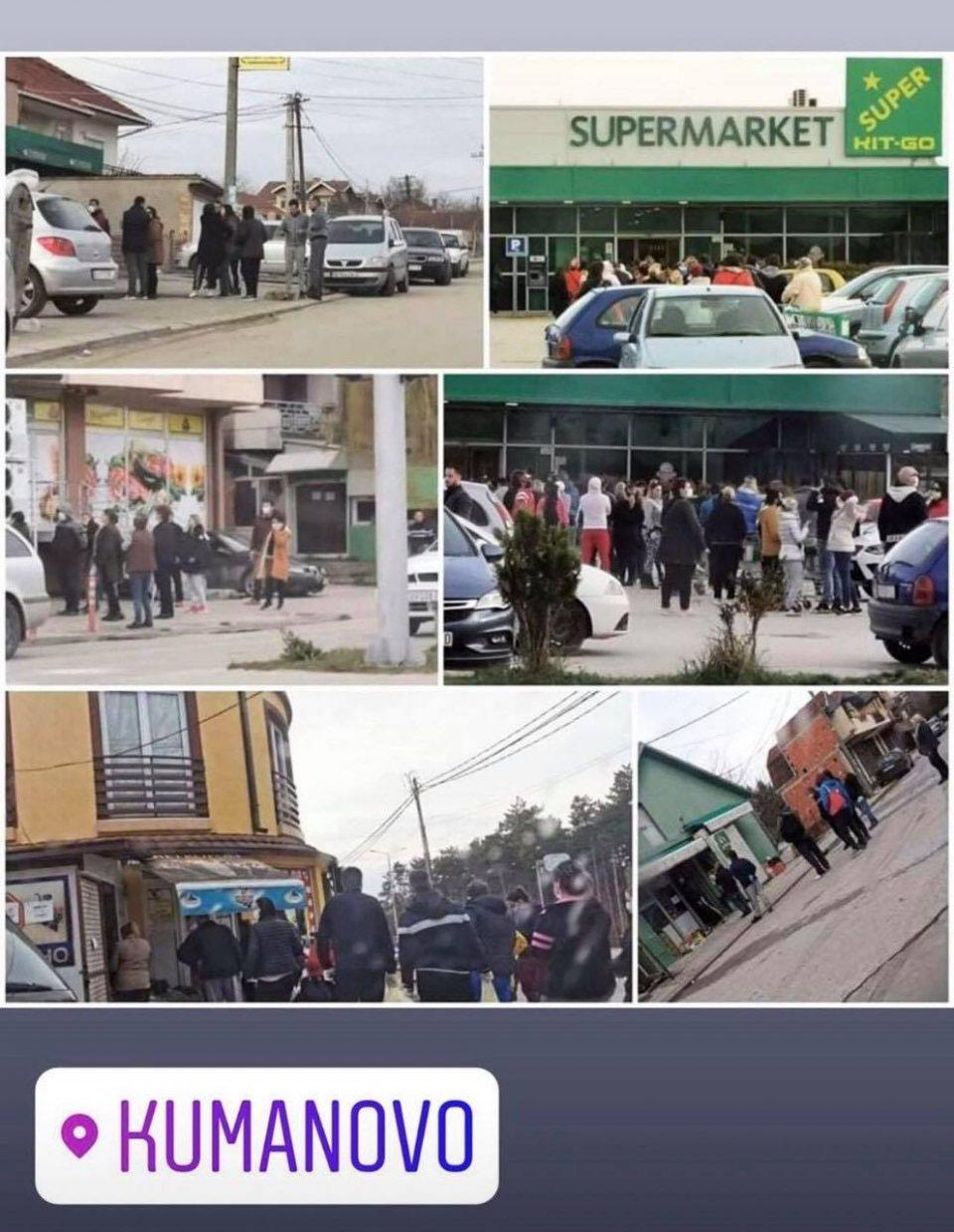 ФОТО: Задоцнетите мерки и касното известување од страна на СДСМ секојдневно предизвикуваат хаос во Куманово