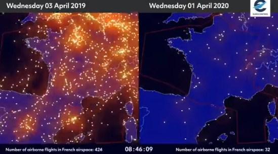 ВИДЕО: Воздушниот сообраќај пред и после коронавирусот!