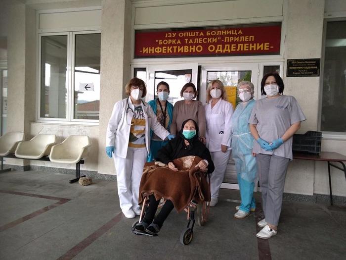 ФОТО: 85-годишна баба од Прилеп излекувана од коронавирус