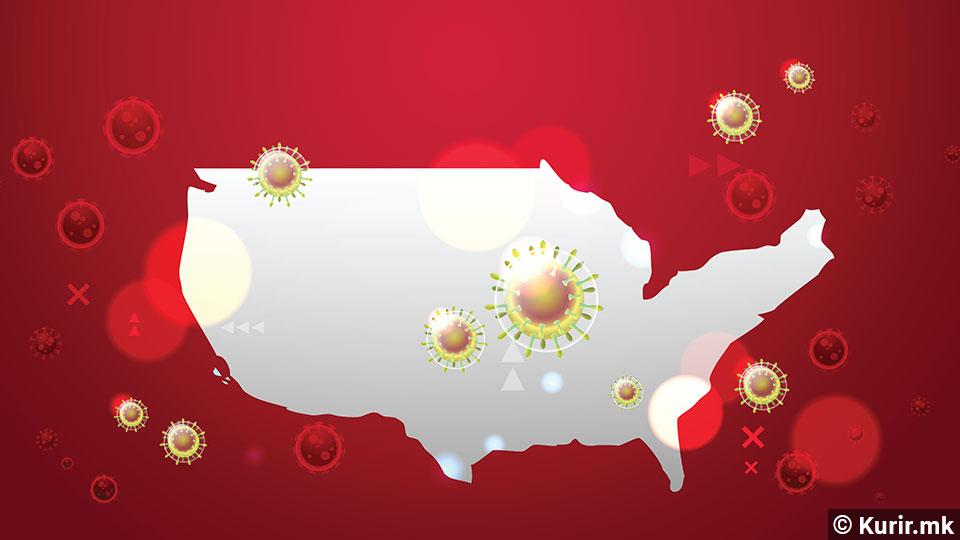 Во САД повеќе од 2.200 починати и над 200.000 заразени од Ковид-19 за еден ден