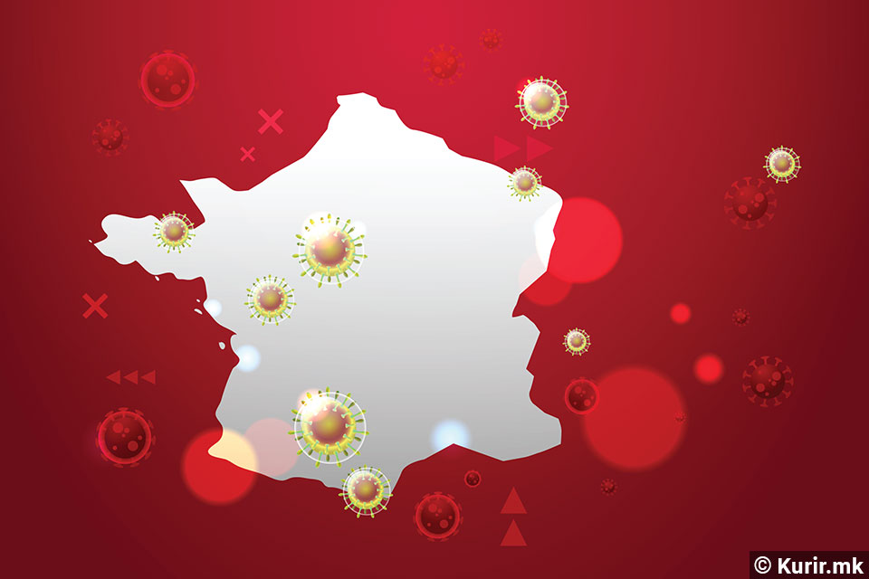Во Франција рекорден број хоспитализирани пациенти заразени со Ковид-19