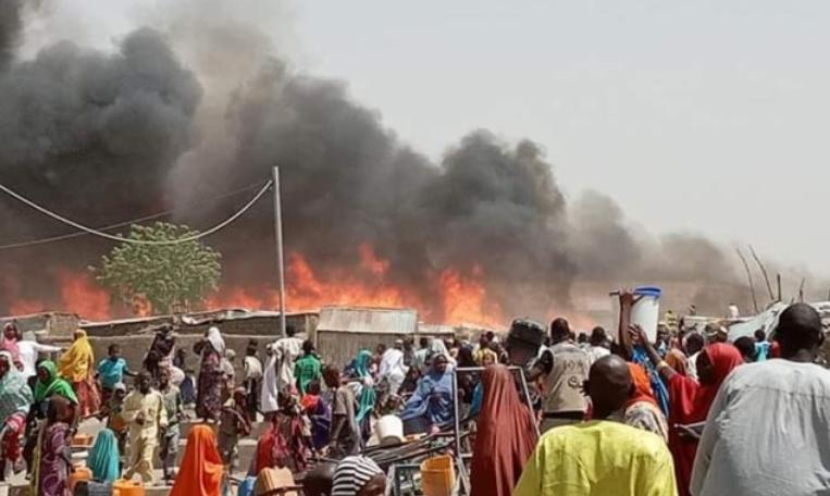Најмалку 14 загинати во пожар во камп за бегалци во Нигерија
